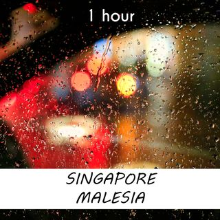 Singapore, Malesia | 1 hour RAIN Sound Podcast | White Noise | ASMR sounds for deep Sleep | Relax | Meditation | Colicky