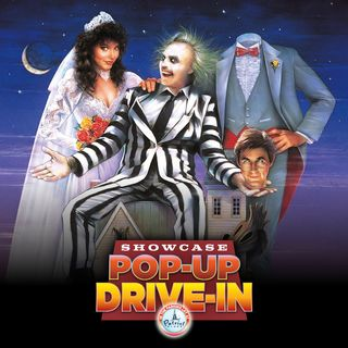 Halloween classics are being shown at pop up drive in movie theater at the Showcase at Patriot Place