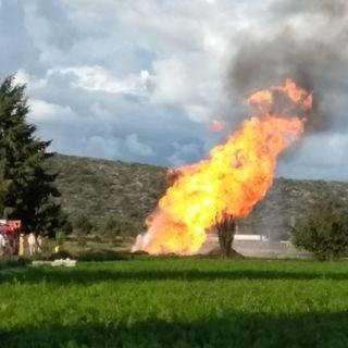 Fuego controlado en toma clandestina