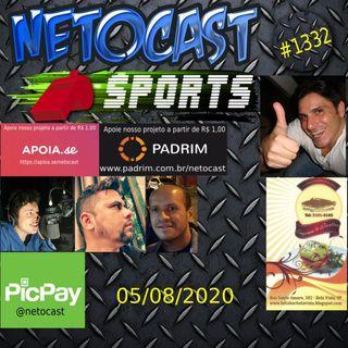 NETOCAST 1332 DE 05/08/2020 - ESPORTES - F1 - FUTEBOL - UFC - BELLATOR