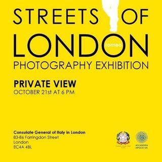 Puntata Speciale dal Consolato di Italia a Londra per la mostra Streets of London del fotografo Romeo, show e promo musicale