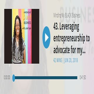 BONUS - Leveraging #entrepreneurship to advocate for my community – Blair Durham on the #Mindingmyblkbiz podcast