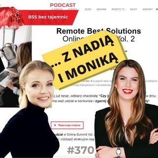 #370 Podsumowanie drugiej edycji Remote Best Solutions on-line Summit z Nadią Harris i Moniką Reszko