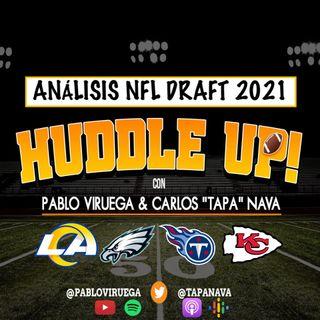 #HuddleUP Análisis #NFLDraft #Rams #Eagles #Titans #Chiefs con @TapaNava y @PabloViruega