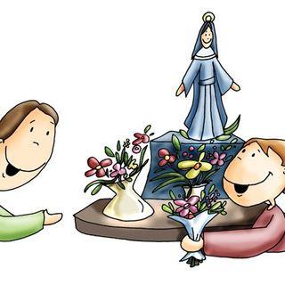Poesía a la Virgen en el mes de mayo. 2º infantil.