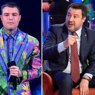 Le reazioni di Salvini alle parole di Fedez 1maggio 2021