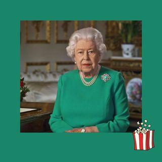 La regina Elisabetta, discorso storico in seta verde