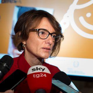 Roma- Presentazione Dossier Indifesa Intervista a Elena Bonetti, Ministro per le Pari Opportunità e la Famiglia