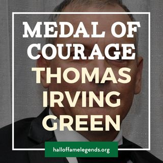 2017 Medal of Courage recipient, Thomas Irving Green