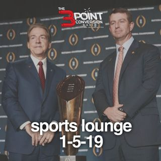 The 3 Point Conversion Sports Lounge- NFL Playoffs, Who Wins National Championship, Is Harden Top 5, NFL Awards