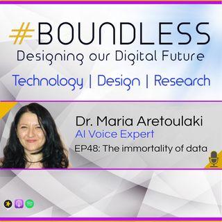 EP48: Dr. Maria Aretoulaki, AI Voice Expert: The immortality of data