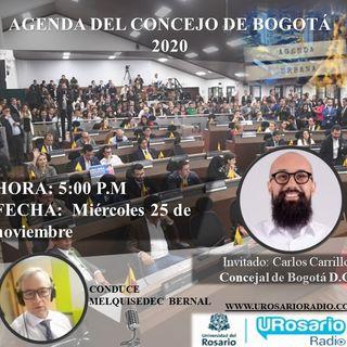 Agenda del Concejo de Bogotá 2020