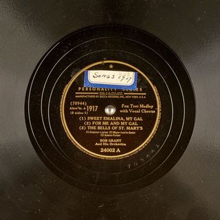 01 - (1) SWEET EMALINA, MY GAL (2) - BOB GRANT And His Orchestra