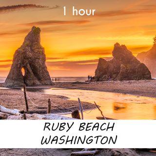 Ruby Beach, Washington | 1 hour OCEAN WAVES Sound Podcast | White Noise | ASMR sounds for deep Sleep | Relax | Meditation | Colicky