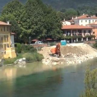 Cantiere del ponte degli Alpini, via le ture dall'alveo del Brenta: le modifiche alla viabilità