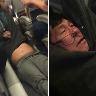 United Air lines Passenger Dragged From Overbooked Flight.