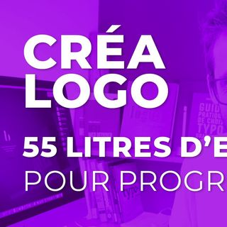 55 litres d'eau pour progresser en création de logo