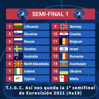 T.I.G.C. Así nos queda la 1ª semifinal de Eurovisión 2021 (4x19)