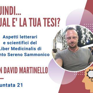 PUNTATA 21, David Martinello, Professore di Lettere, Liceo L. Da Vinci, Padova