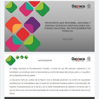 La Reforma Murat al Código Nacional de Procedimientos Penales P-I