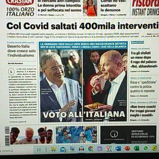 Radio Racconti quotidiani 27 sett Germania all'italiana – Rapporti di sangue – Opinioni senza confronto