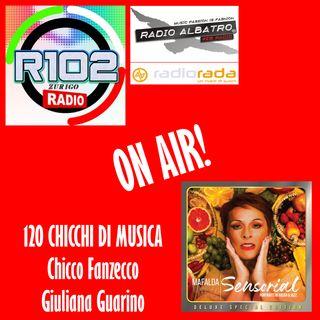 Con Chicco Fanzecco e Giuliana Guarino per 120 Chicchi di Musica su R102 - Zurigo
