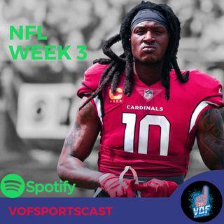 NFL Week 3 Matchups