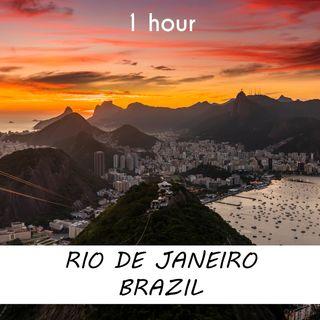 Rio de Janeiro, Brazil | 1 hour RIVER Sound Podcast | White Noise | ASMR sounds for deep Sleep | Relax | Meditation | Colicky