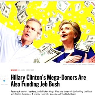 Hillary and Jeb 2 Peas in a Pod