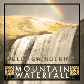 Mountain Waterfall | White Noise | ASMR & Relaxation