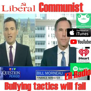 Morning moment Liberal QUE BEC Thug Tactics Dec 7 2018