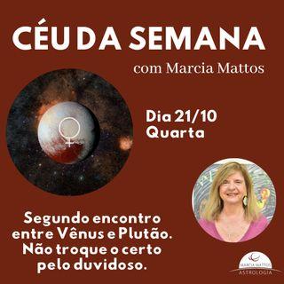 Céu da Semana - Quarta-feira, dia 21/10: Segundo encontro de Vênus com Plutão.