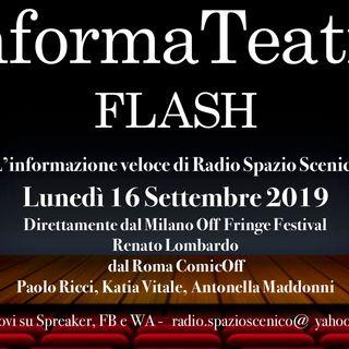 InformaTeatro Flash 16 Settembre 2019