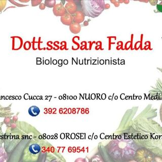INTERVISTA SARA FADDA - BIOLOGA NUTRIZIONISTA