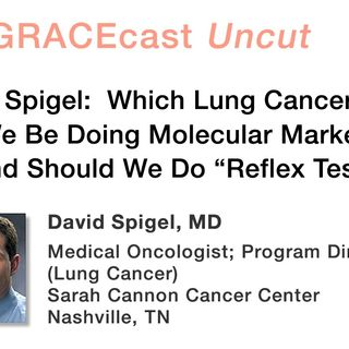"Dr. David Spigel: Which Lung Cancer Patients Should We Be Doing Molecular Marker Testing For, and Should We Do ""Reflex Testing""?"