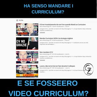 Curriculum cartaceo o video curriculum?
