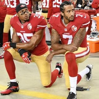 NFL players can't kneel