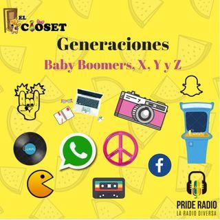 Generaciones x, millennials y z.