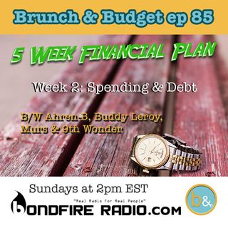 b&b85 5-Week Financial Plan: Spending & Debt