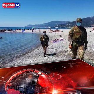 Non c'è pace! A Ventimiglia l'esercito controlla i bagnanti