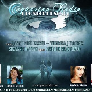 Geraldine Orozco & 09/04/20 ~ UFO Secret Space ~ Hosts: Janet, Theresa, Suzanne