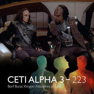 223 - Borf Buras, Klingon Attorney-At-Law