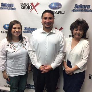Yoshi Domoto with Japan-America Society of Georgia & JapanFest, Brittany Luiz with American Tombow and Masae Okura with Taylor English Duma