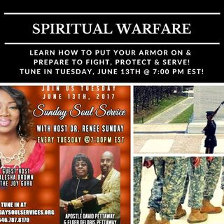 Sunday Soul Service-with-Host Alesha Brown Topic-Spiritual Warfare