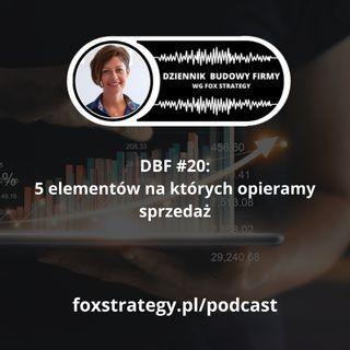 DBF #20: 5 elementów, na których opieramy sprzedaż w Fox Strategy [BIZNES]