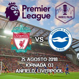 Liverpool vs Brighton and Hove Albion en VIVO