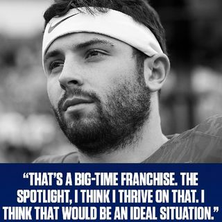 #BakerMayfield Shades #DanielJones & NYG Front Office