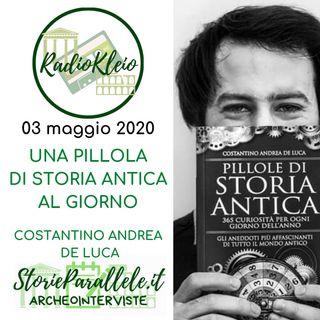 ArcheoIntervista: Costantino Andrea De Luca - Una pillola di Storia Antica al giorno