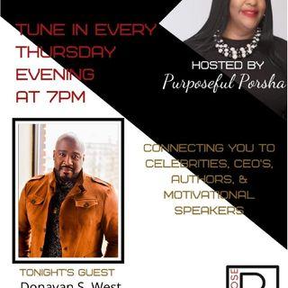 Season 3 Episode 34 Purpose PR Agency Radio Speaks With Donavan S.West