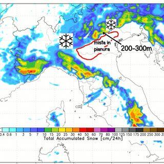 Focus neve: il 5-6 gennaio scende anche a bassa quota